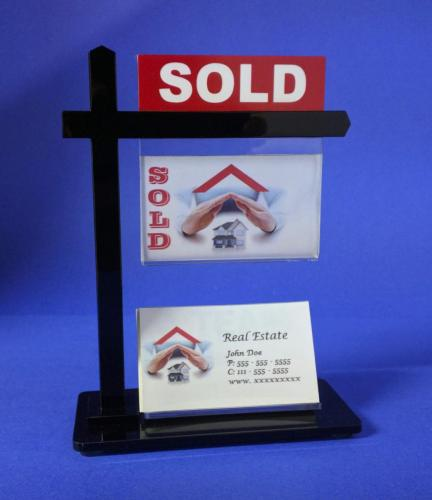 Acrylic Real Estate Business Card holder