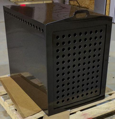 Black HDPE Dog Crate - Hot Air Welding