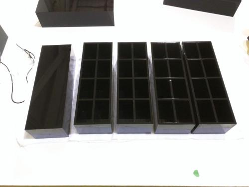 Black Acrylic Custom Trays