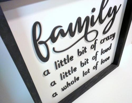 Laser cut 3D Sign/Picture