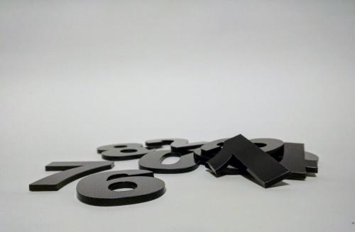 Black Acrylic Numbers