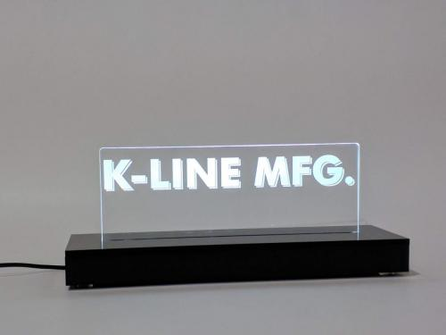 Laser engraved Acrylic LED light with black acrylic base