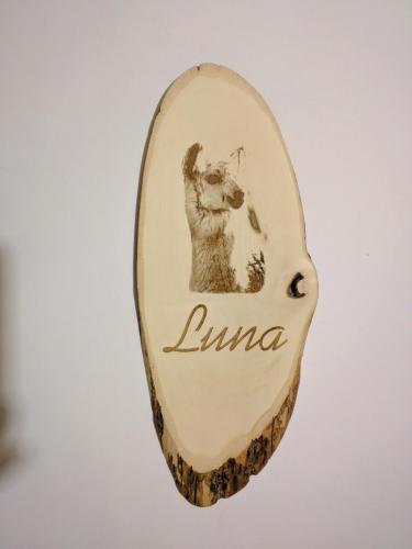 Laser engraved wood sign