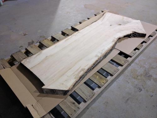 CNC Flattened live edge slab