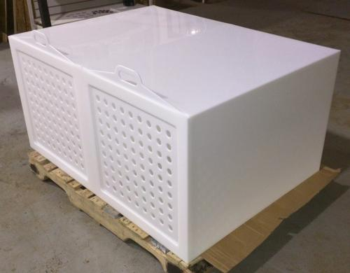White HDPE Dog Crate - Hot Air Welding